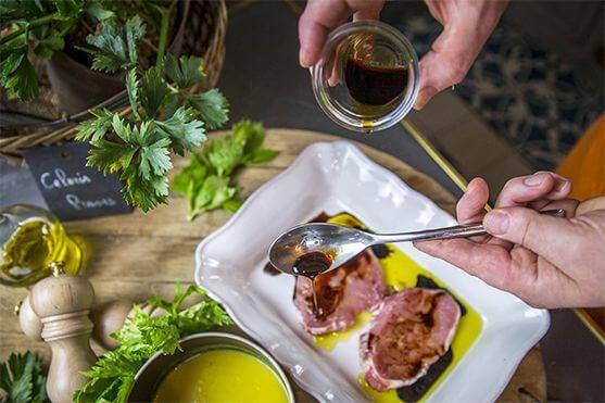 Échine à l'aigre douce - velouté de saison céleris recette Créaline
