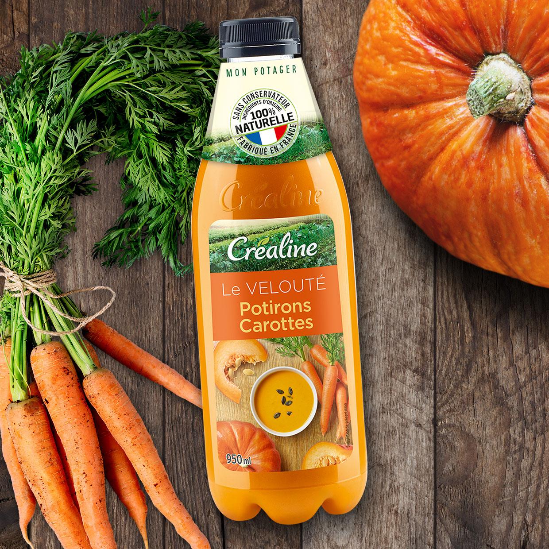 Le velouté potirons carottes : une soupe au rayon frais
