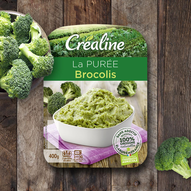 Purée brocolis : une purée au rayon frais Créaline