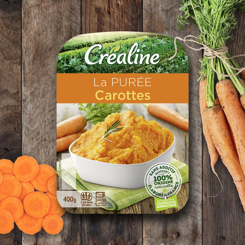 La purée de carottes : une purée au rayon frais par Créaline