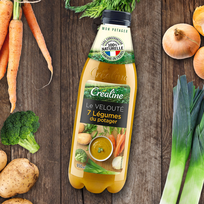 Le velouté 7 légumes du potager : une délicieuse soupe Créaline au rayon frais