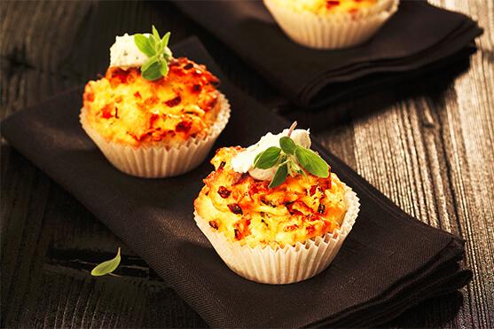 cupcakes potirons lardons - recette Créaline