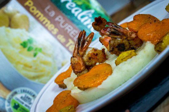 Une recette originale : purée de pommes de terre gambas et mangue par Créaline