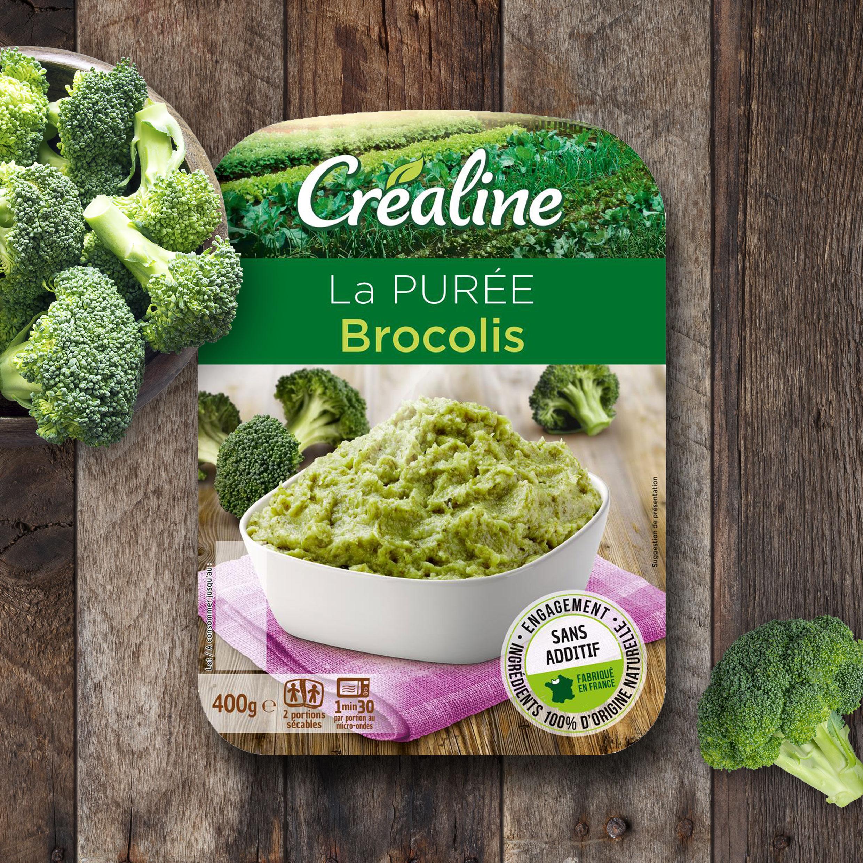 La purée brocolis : une purée classique Créaline au rayon frais