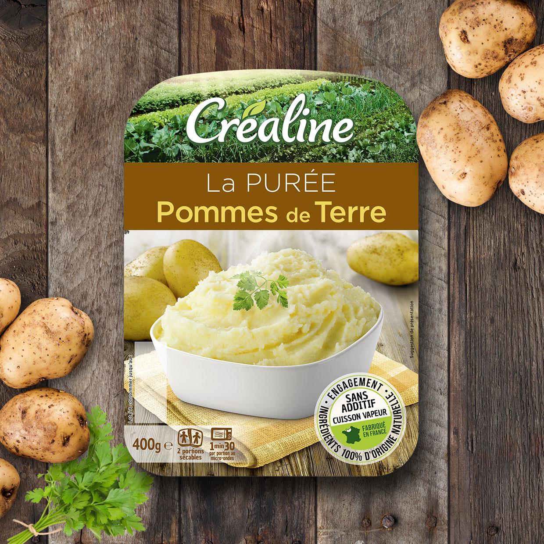 La purée pommes de terre : la purée incontournable Créaline au rayon frais