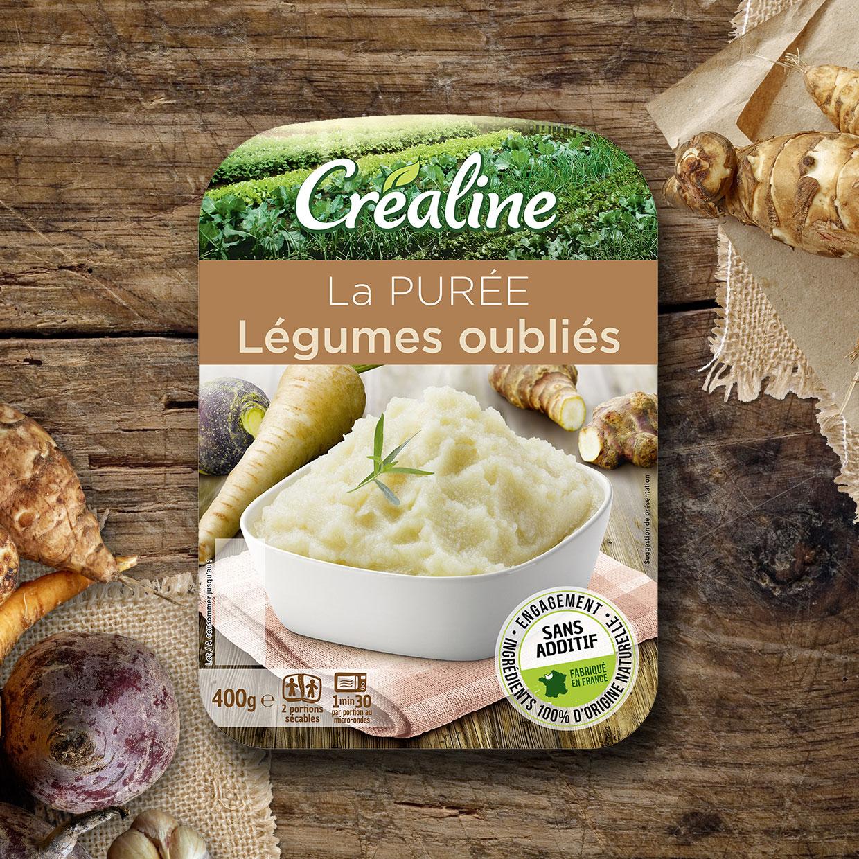 La purée légumes oubliés : une purée Créaline au rayon frais