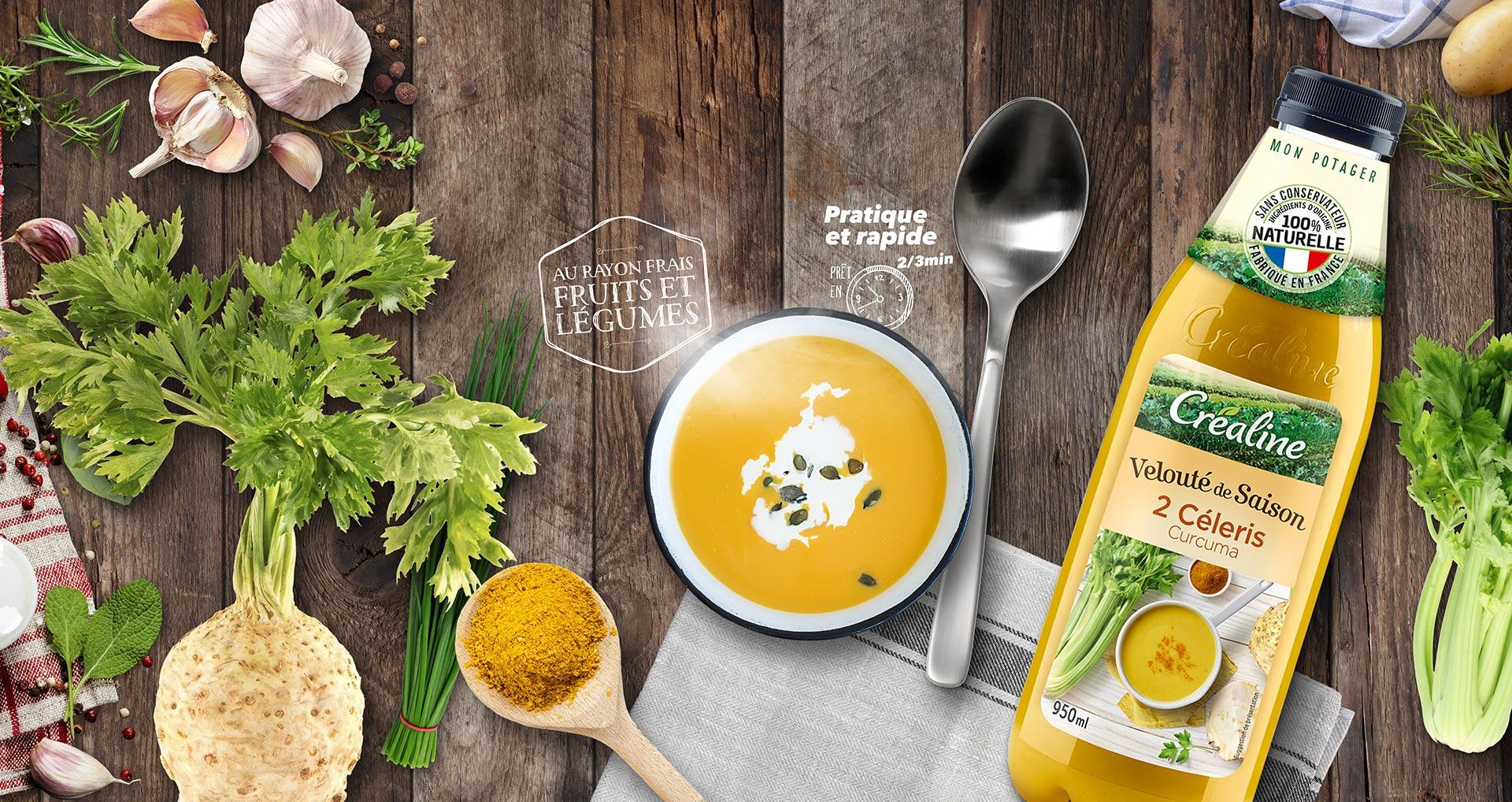 Velouté de saison 2 céleris : une soupe de saison au rayon frais par Créaline