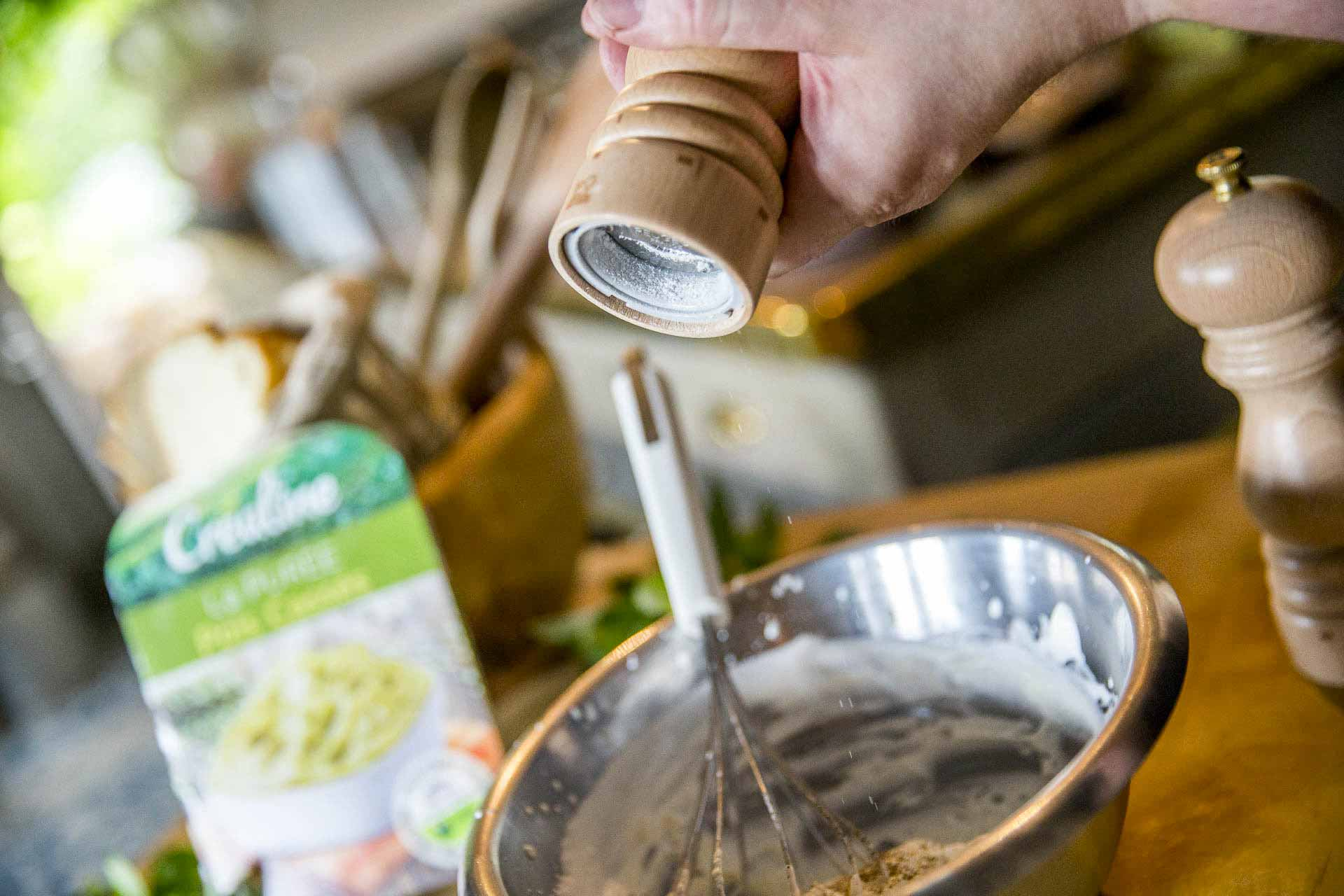 Purée de pois cassés chantilly à la menthe et parmesan : une recette végétarienne par Créaline