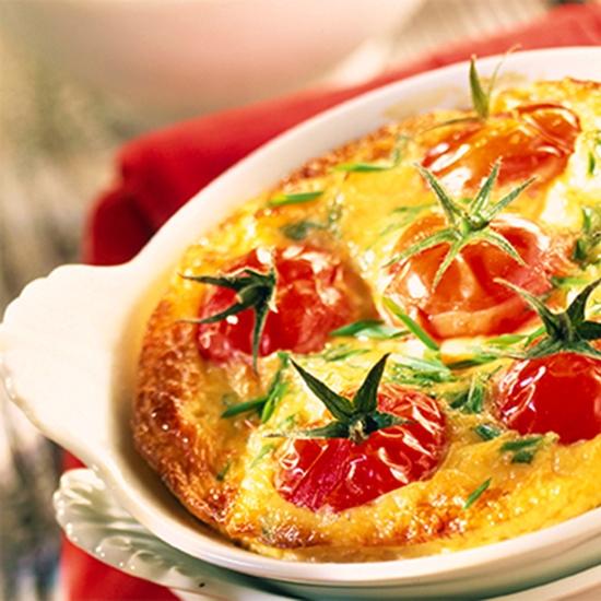 Une recette simple par Créaline : clafoutis aux brocolis et tomates cerises