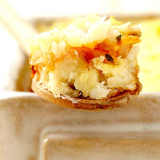 Parmentier de poisson aux 2 carottes à réaliser avec l'écrasé pommes de terre aux 2 carottes de Créaline