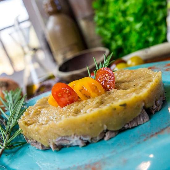 Une recette de purée par Créaline : purée provençale et canard rôti