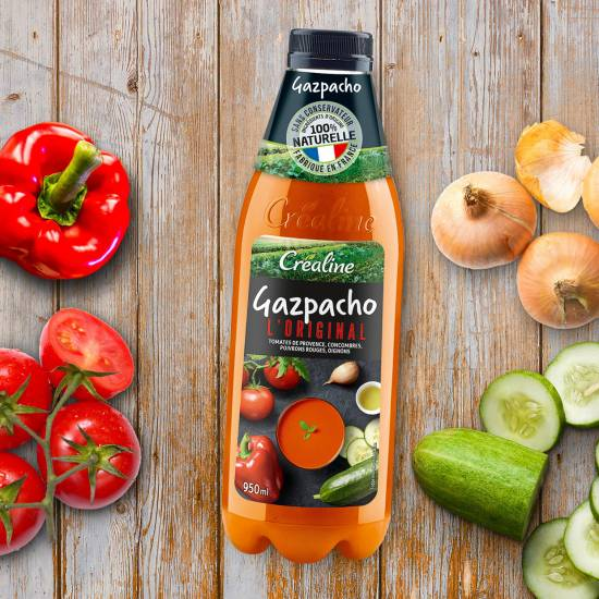 Gazpacho l'Original : gazpacho au rayon frais par Créaline