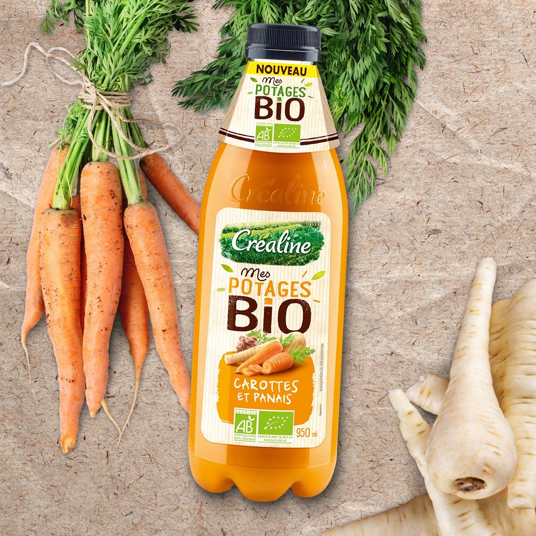 Soupe carottes et panais Bio : Mes potages Bio soupe au rayon frais Créaline