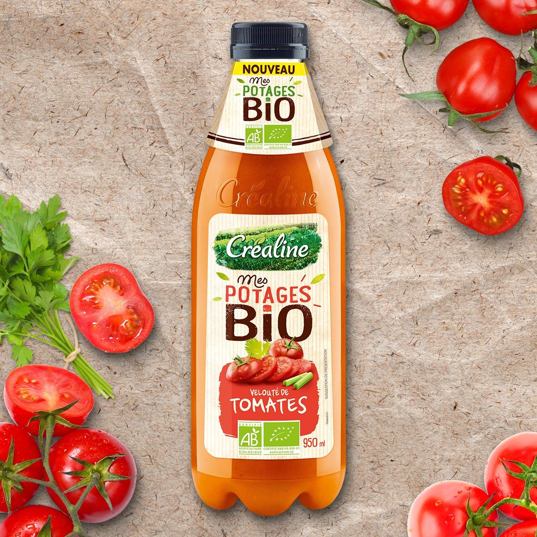 Velouté de tomates Bio : une délicieuse soupe de tomates au rayon frais