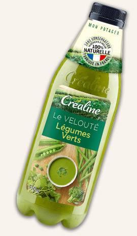 Le velouté légumes verts : une délicieuse soupe au rayon frais Créaline