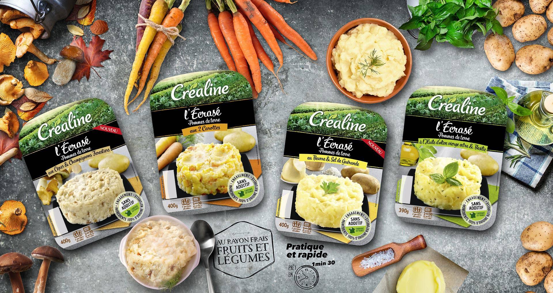 Les écrasés de pommes de terre Créaline : des écrasés de pommes de terre comme à la maison