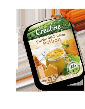 Purée de potiron : purée de saison au rayon frais Créaline