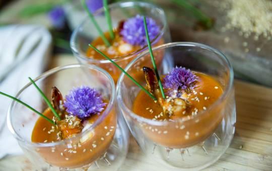 Recette estivale : verrine de gazpacho