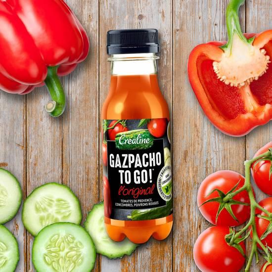 Gazpacho to go : le gazpacho au rayon frais en petite bouteille