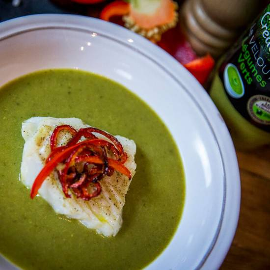Idée recette : velouté de légumes verts Créaline