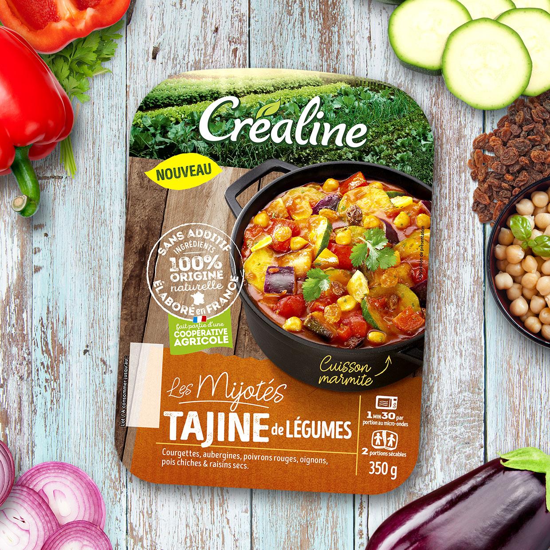 Mijoté de tajine de légumes : un mijoté de légumes au rayon frais par Créaline