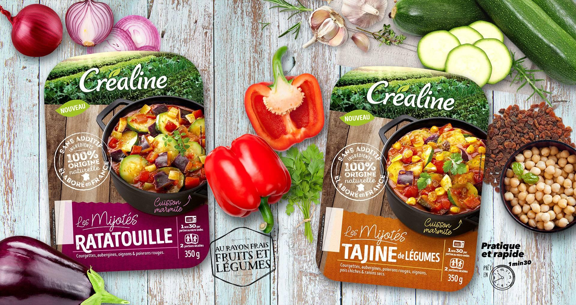 Les mijotés de légumes au rayon frais Créaline