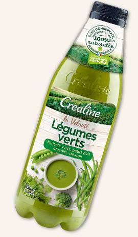 Veloutés de légumes, soupes bio au rayon frais par Créaline : un grand choix de soupes de légumes de saison