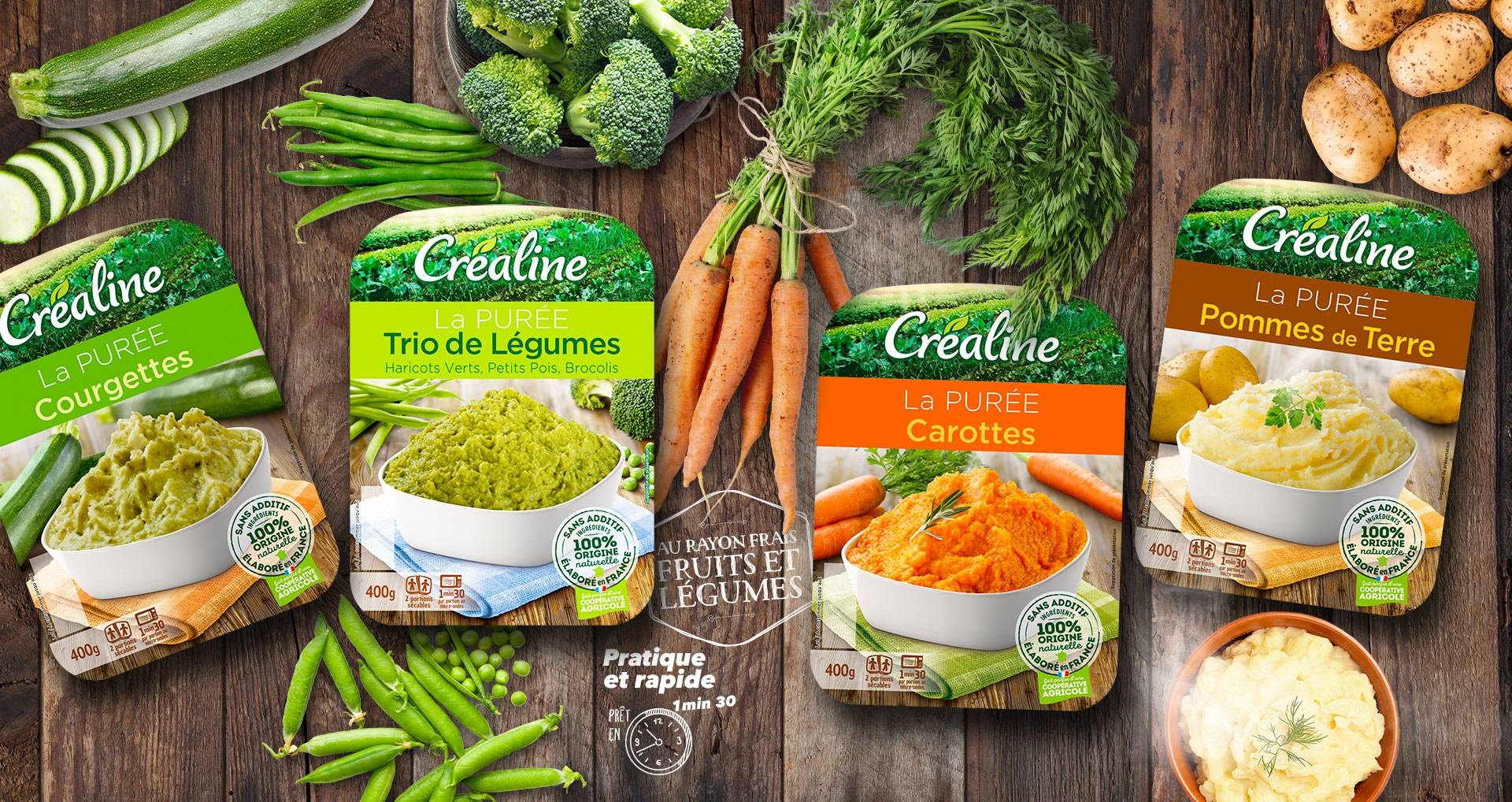 Les purées de légumes au rayon frais Créaline : des purées à déguster toute l'année