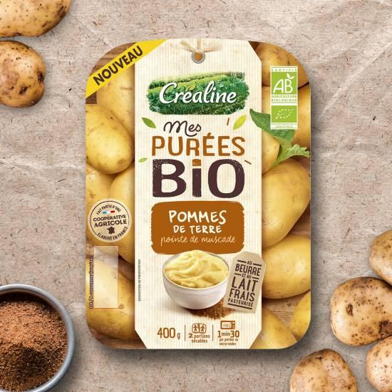 Purée de pommes de terre bio et pointe de muscade : purée bio au rayon frais