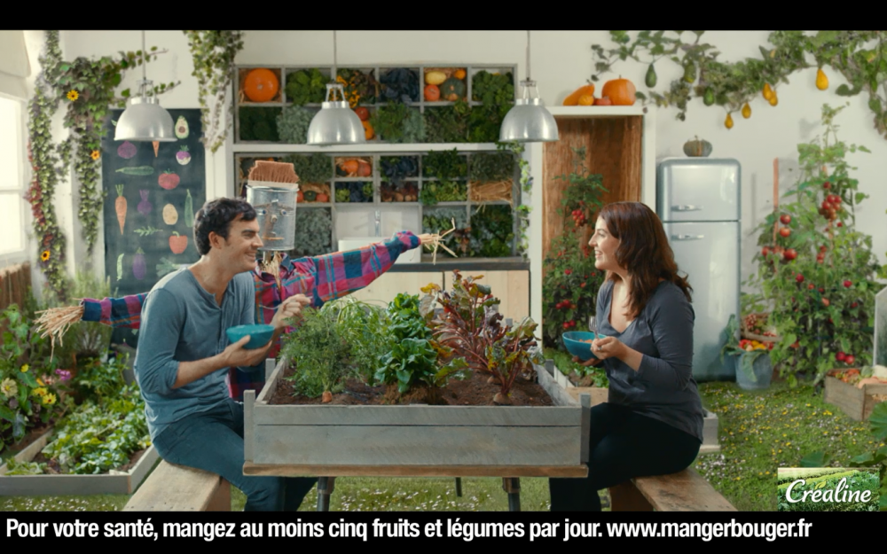 Publicité télé Créaline : soupes, purées et gazpachos au rayon frais
