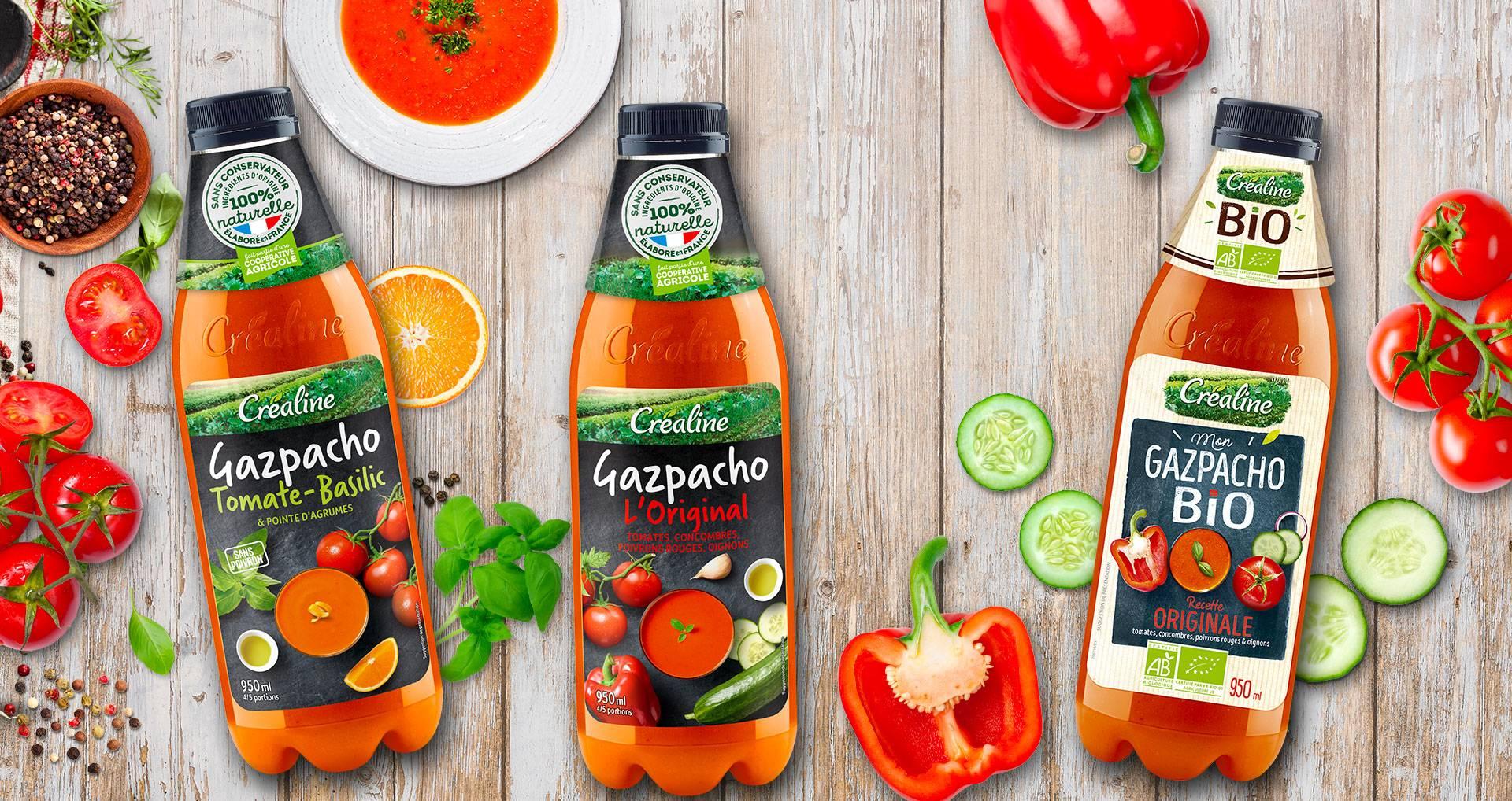 Les gazpachos Créaline : de savoureuses recettes de gazpachos rafraîchissantes
