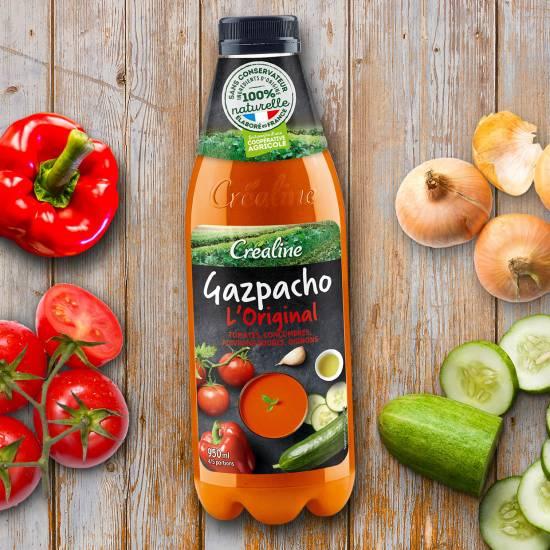 Gazpacho Crealine orignal tomates concombres poivrons oignons