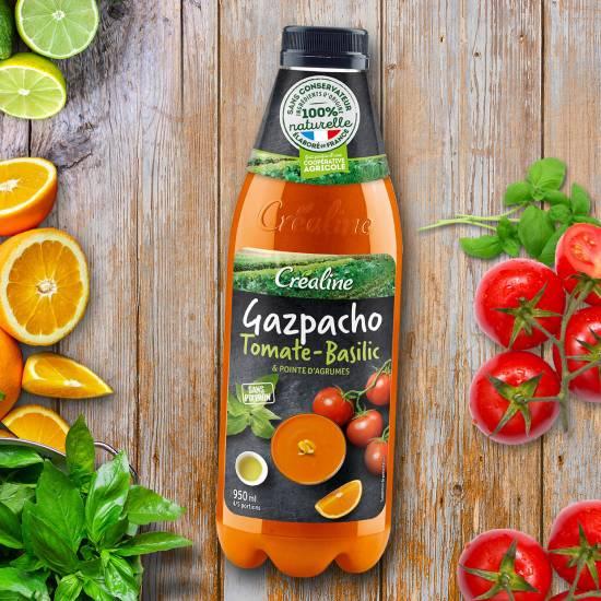 gaspacho crealine soupe froide tomate basilic été