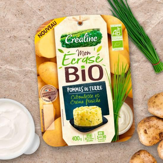 Ecrasé de pommes de terre bio : une recette d'écrasé bio par Créaline