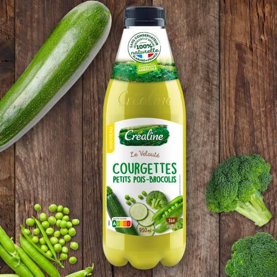 Le velouté courgettes petits pois brocolis : une recette de soupe par Créaline