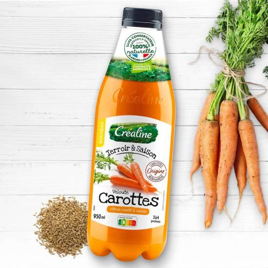Velouté de carottes citron confit et cumin : une délicieuse recette de soupe par Créaline