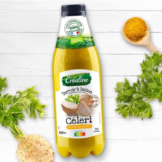 Velouté de céleri et sa pointe de curcuma : une recette de soupe par Créaline