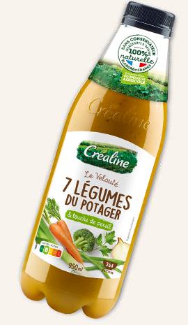 Velouté 7 légumes du potager : soupe rayon frais Créaline