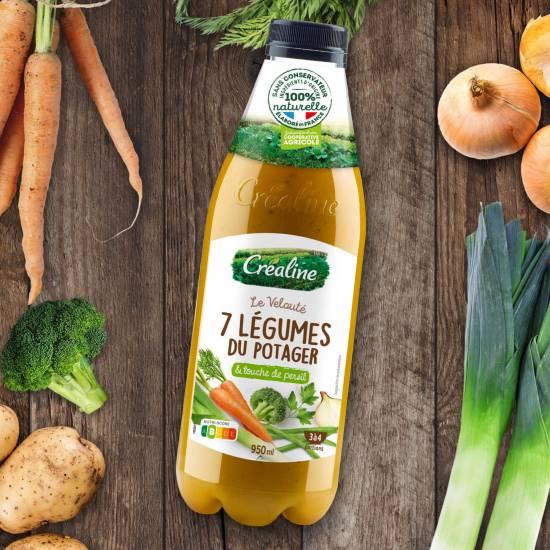 Velouté 7 légumes du potager : une recette de soupe Créaline