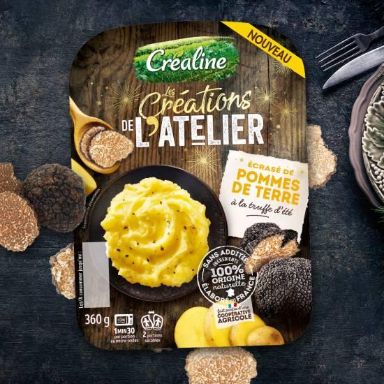Ecrasé de pommes de terre à la truffe d'été : recette purée Créaline