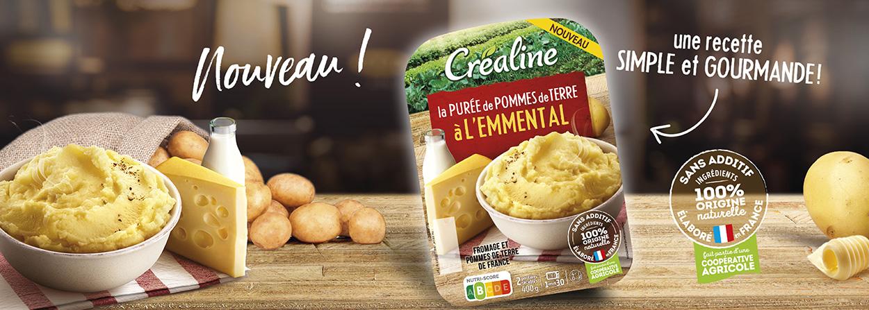 purée gourmande pommes de terre et fromage emmental