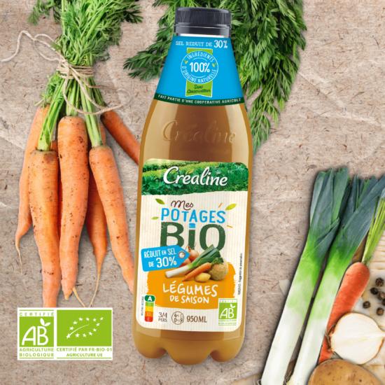 soupe bio legumes de saison crealine